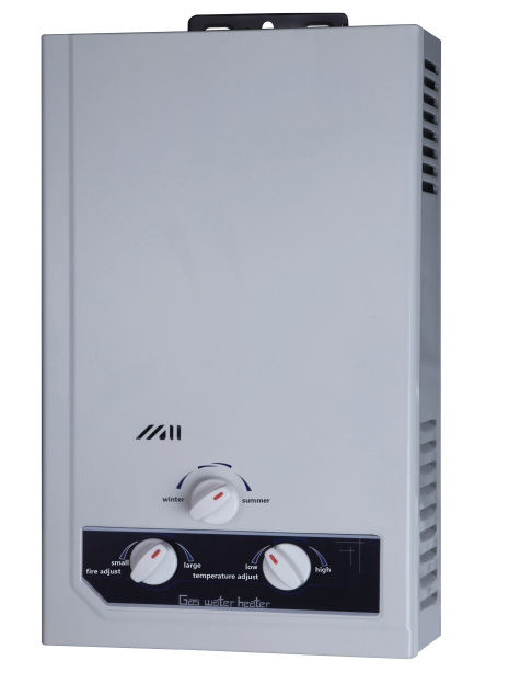 6L/8L/10L /12llautomatic Ignition Gas Water Heater with Over Water Pressure Protection Devices
