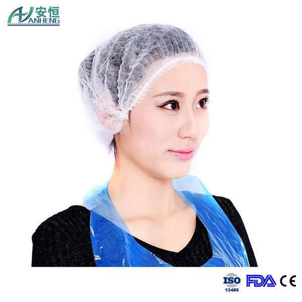 Disposable Nonwoven Bouffant Cap Nurse Cap Potective Wear