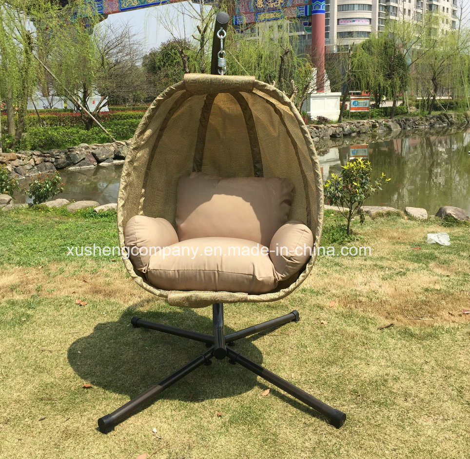 Popular Patio Garden Egg Swing Chair with Textilene