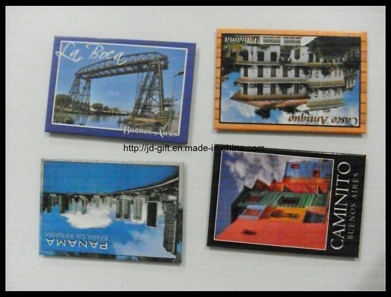 Iron Metal Country Souvenir Customized Colorful Fridge Magnet in Low MOQ