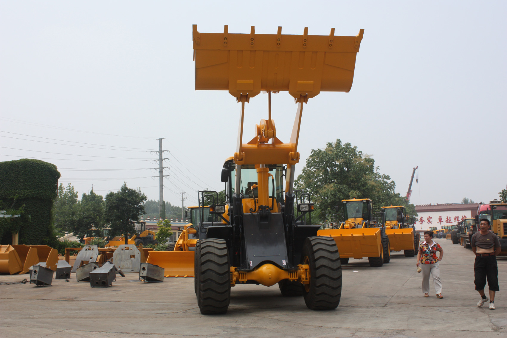 5ton Pilot Contrl Wheel Loader with Various Attachments