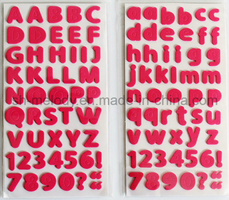 Multicolor Medium Alphabets a~Z, a~Z, 0~9 Foam Stickers for Scrapbooking and Cardmaking