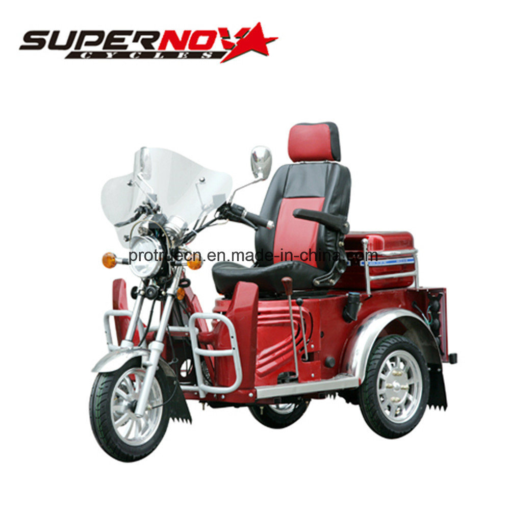 110cc Air Cooled Engine 3 Wheels Disabled Tricycle for Handicapped
