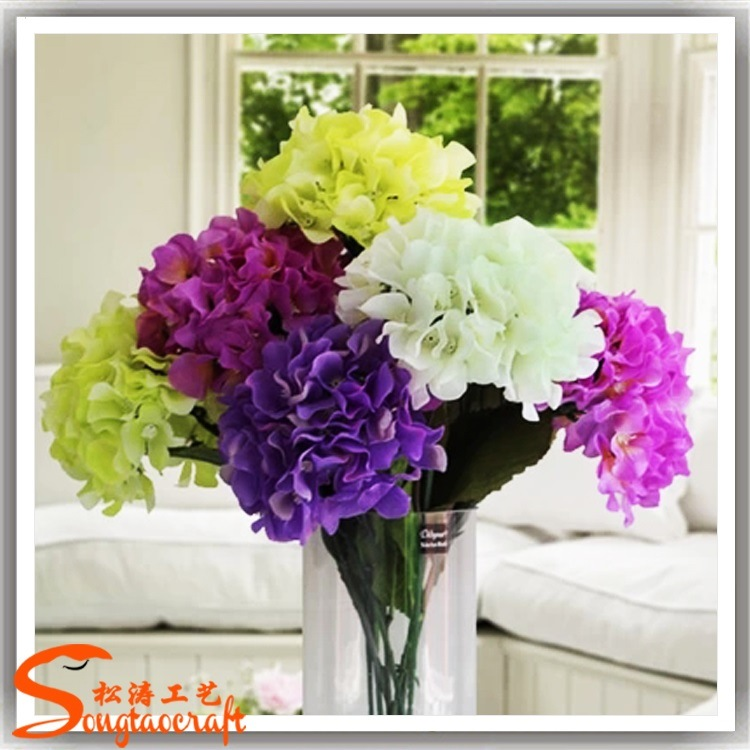 Wedding Decorative Artificial Silk Hydrangea Flower