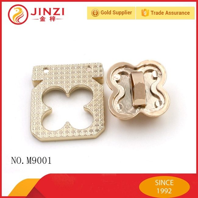 Luxury Design Zinc Alloy Zip Twist Bag Lock