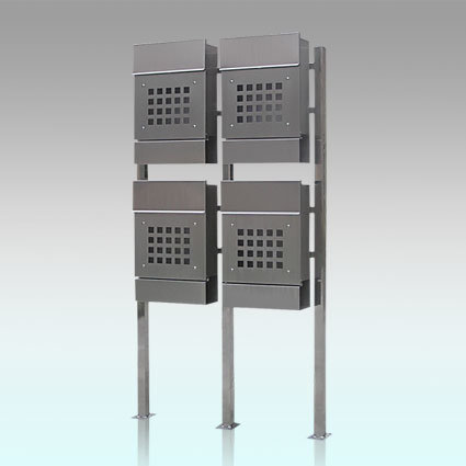 Gh-3328s12u4 Stainless Steel Standing Mailbox
