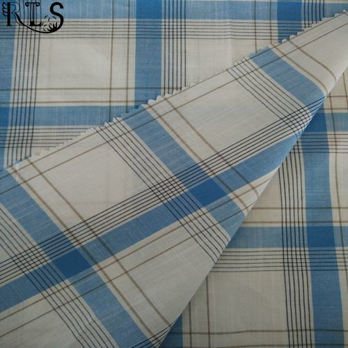 100% Cotton Poplin Woven Yarn Dyed Fabric for Shirts/Dress Rlsc60-4sb