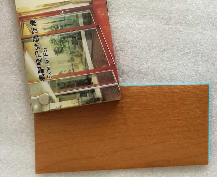Wooden Grain Cold Wrapping Film (10 year exterior use guarantee)