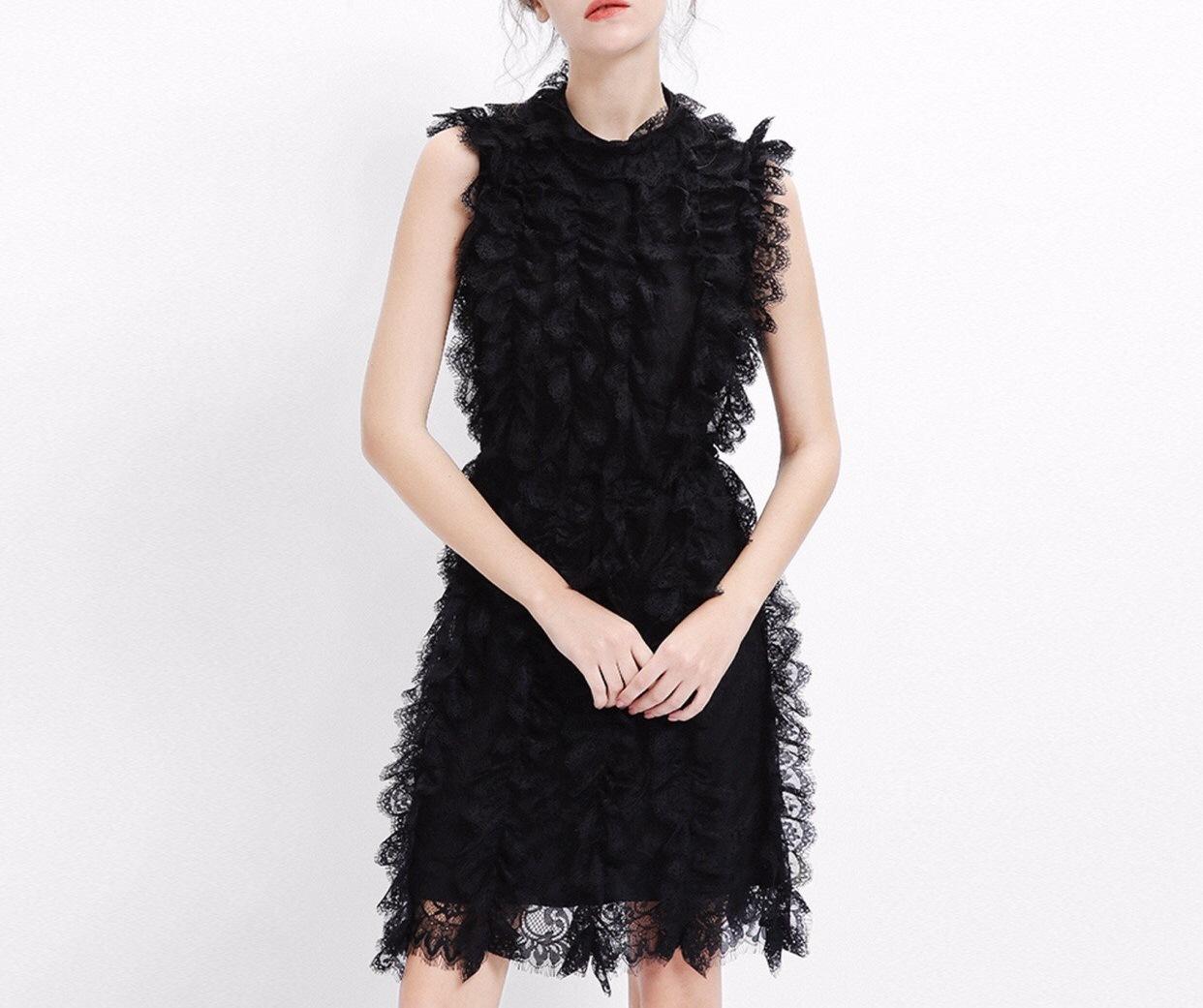 Lace Elegant Charming Sleeveless Dinner Ladies Dress