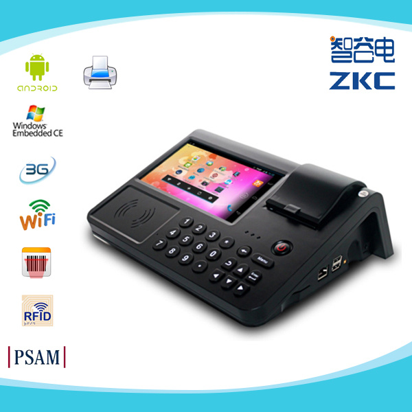 Dual-Core Touch Screen Android Smart POS Terminal Zkc PC701