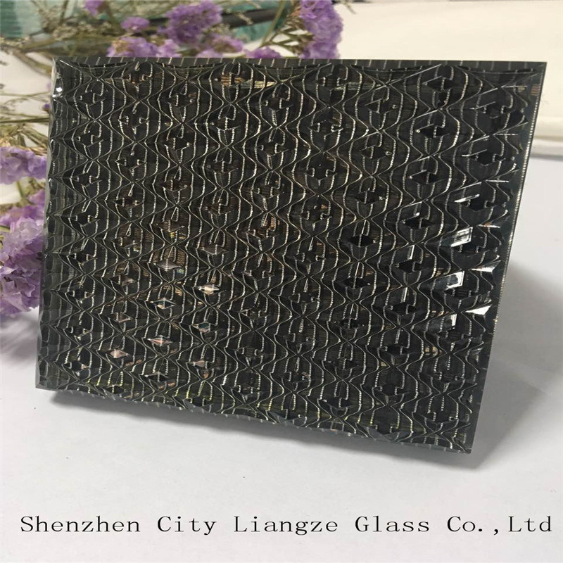 5mm+Silk+5mm Silver-Mirror Customized Sandwich Glass/Tempered Laminated Glass/Safety Glass for Decorated