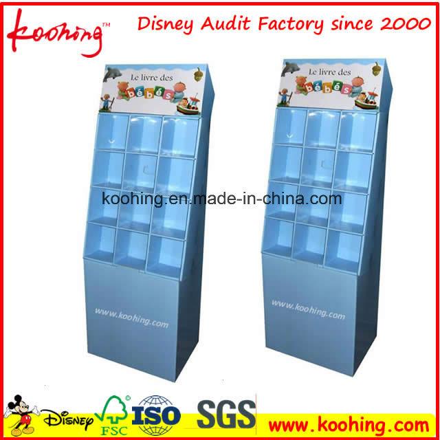 Blue Corrugated Cardboard PDQ Display Box Pop Paper Display