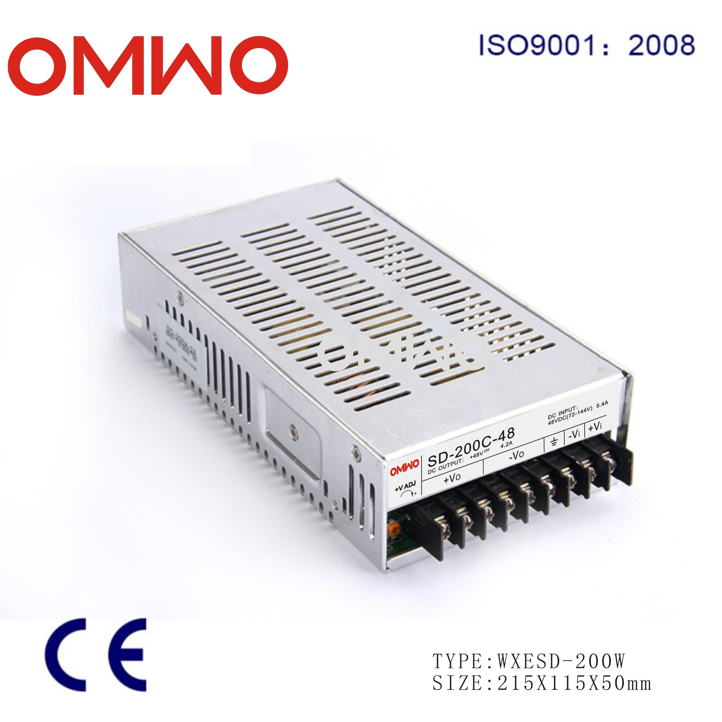 200W Single Output DC-DC Converter