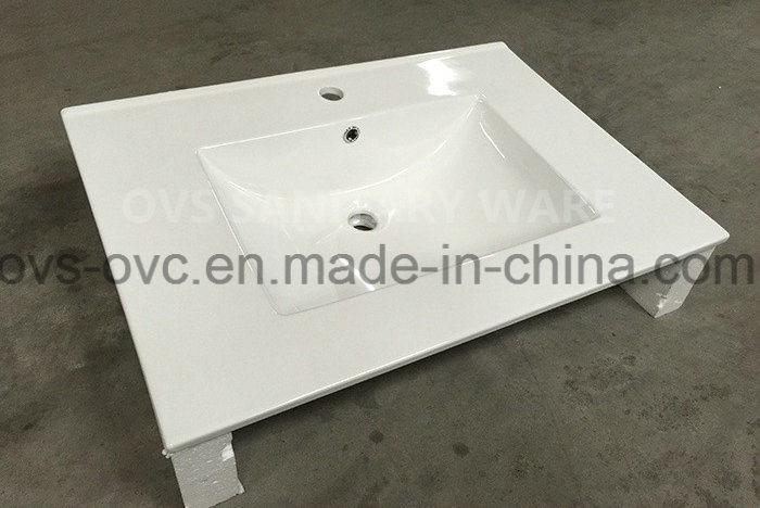 Sanitary Ware One Piece Thin Edge Wash Basin with Cupc