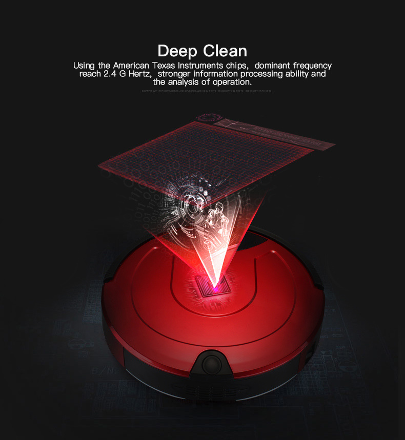 Vacuum Robot Smart Cleaning Robot Sweeper Smart Anti-Collision Cleaner