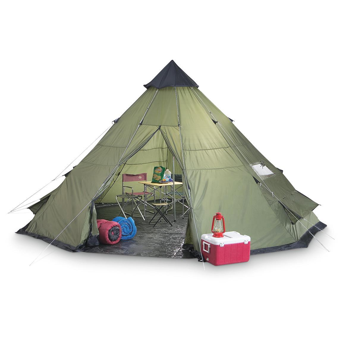 2017 Hot Selling Big Camping Bell Rock Indian Teepee Camping Tent