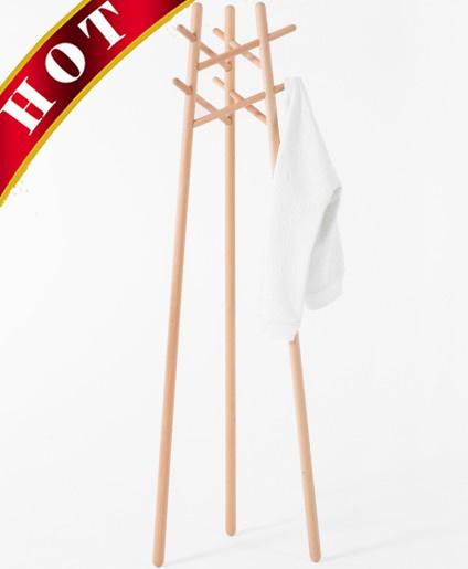 Popular Modern Beech Cloth Hanger Wooden Clothes Tree
