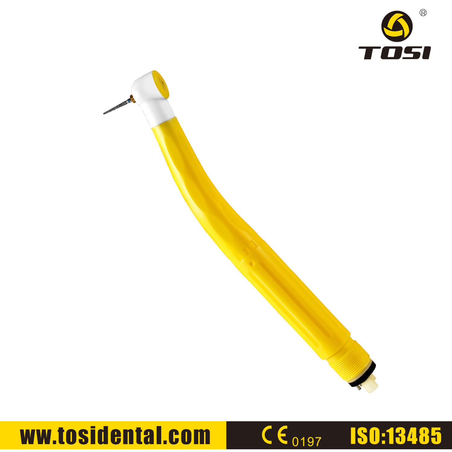 Tosi Yellow High Speed Disposable Dental Handpiece for Individual Patience