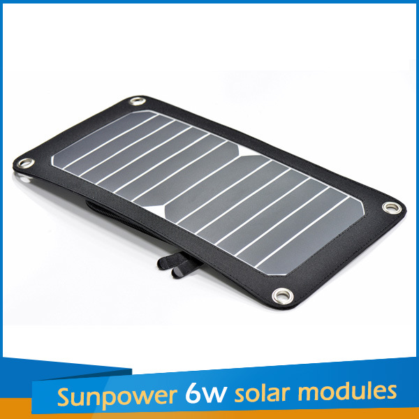 2016 Sunpower Portable Solar 6W Charger Panel Kit