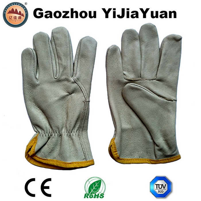 Pig Grain Industrial Safety Hand Drivers Leather Work Gloves