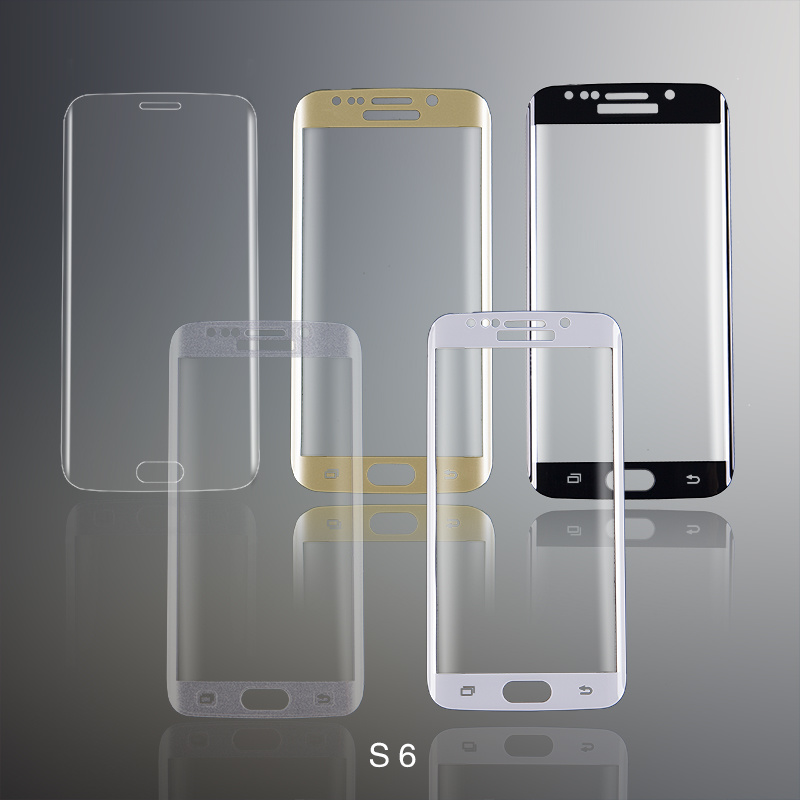 Full Cover Tempered Glass Screen Protector for Samsung S6 Screen Guard