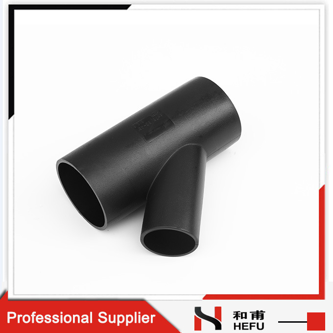 Customized HDPE Plastic Pipe Types Welding Tee Joint
