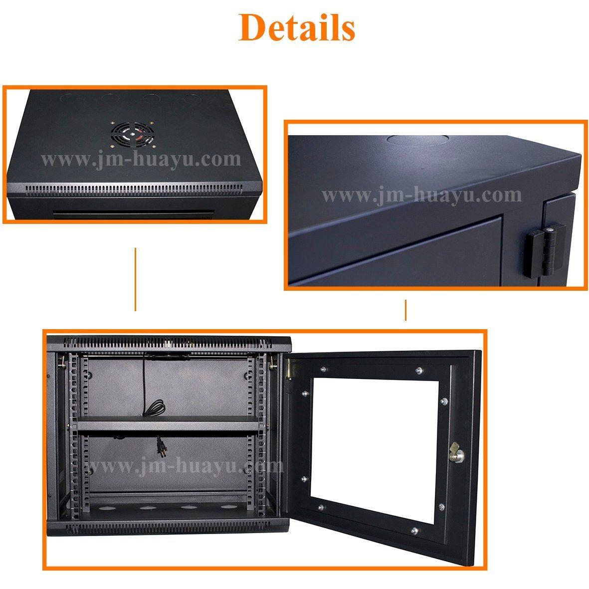 Powder Coating Black Telecom Cabinet Network Cabinet 19in Standard