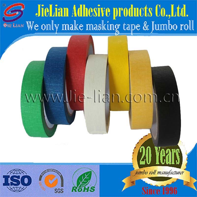 Colored Crepe Paper Masking Tape China Factory with Free Sample
