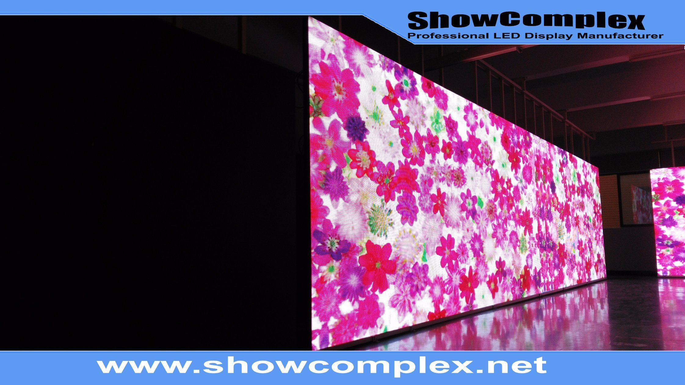 Ultra Slim Panel of pH3 Indoor Full Color LED Display with High Brightness