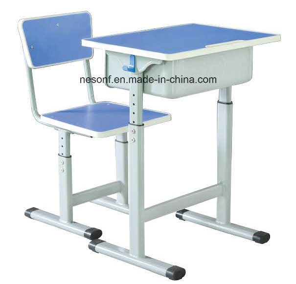 Wooden Panel Sureface Student Desk and Chair School Furniture (NS-KZ18B)