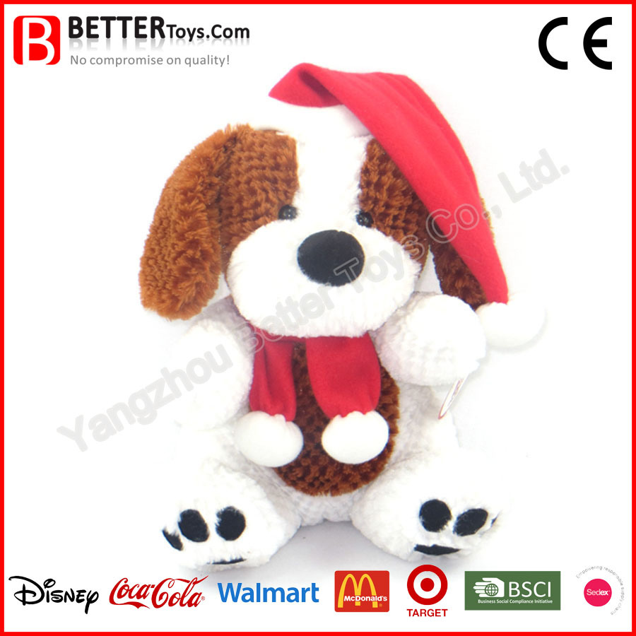 Christmas Day Soft Stuffed Plush Toy Dog