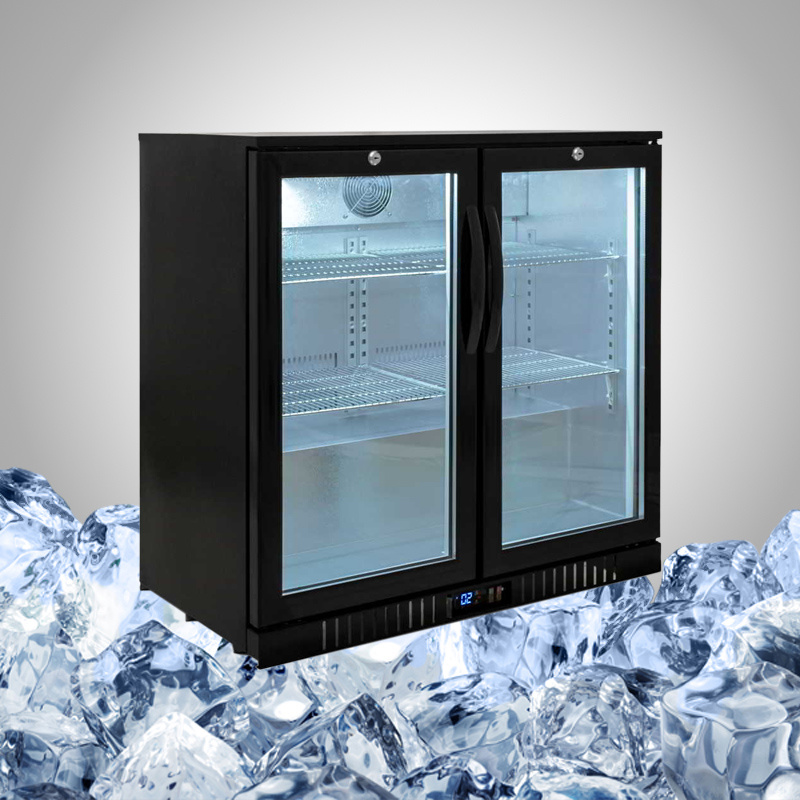Bar Fridge with Glass Door for Undercounter