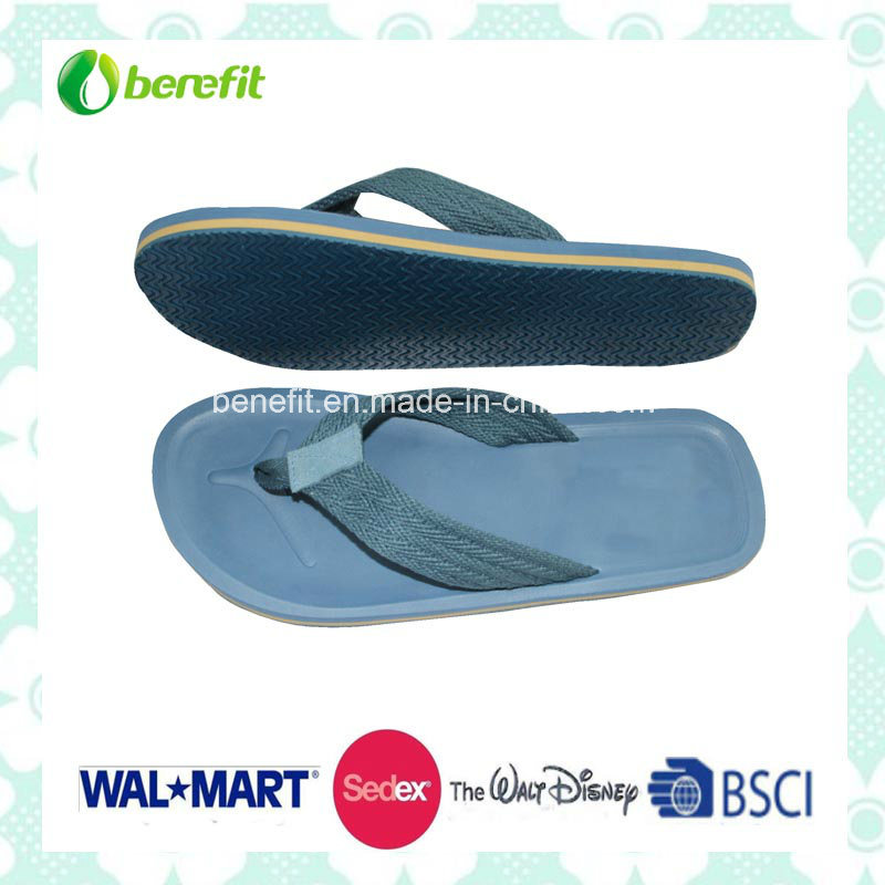 TPR Sole and PU Straps, Men′ Beach Slippers