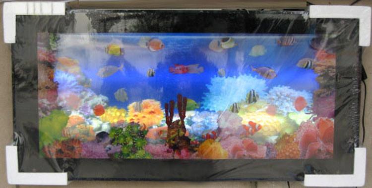 China 3d move picture aquarium fish tank mv018 for 3d fish tank