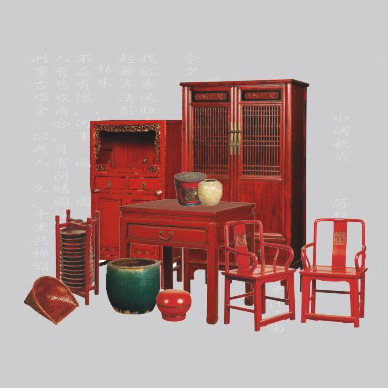 Wonderful Red Chinese Antique Furniture