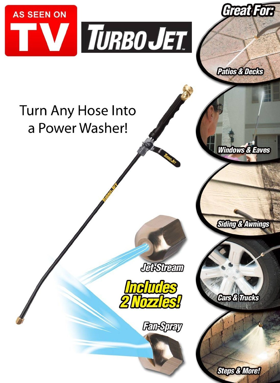 X Hose PRO Water Jet Attaches to Any Standard Hose!