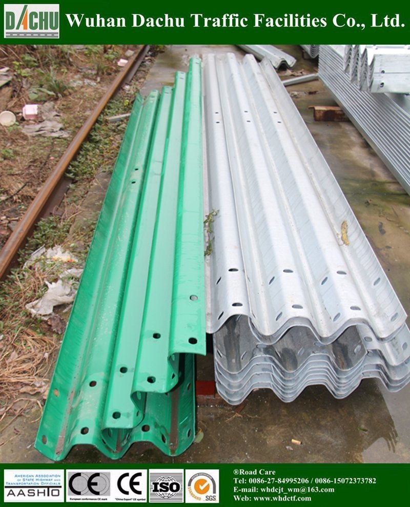 Powder Coated/Galvanized Steel Thrie-Beam Guardrail