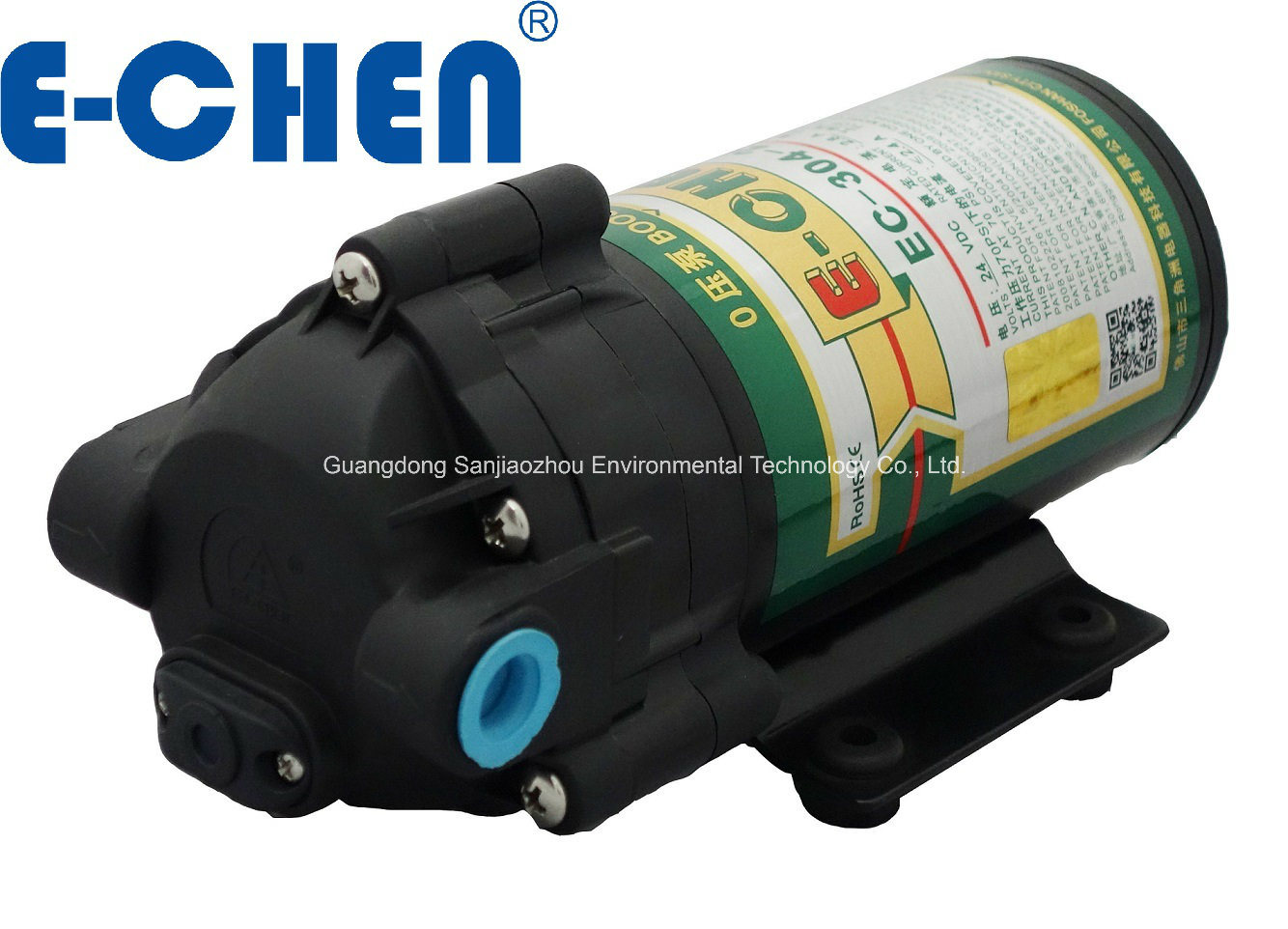 E-Chen 304 Series 400gpd Diaphragm RO Booster Pump - Designed for 0 Inlet Pressure Water Pump