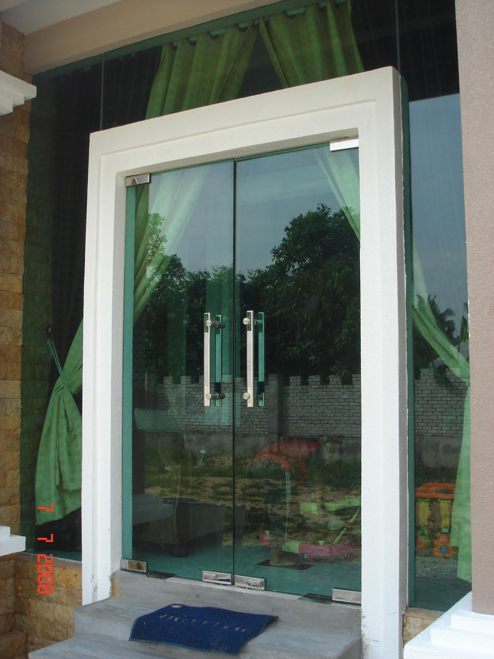 Security doors security door tempered glass for Entry doors with glass