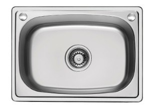 Single Stainless Steel Sink (5237)
