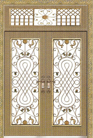 Art Steel Door (JG-734)