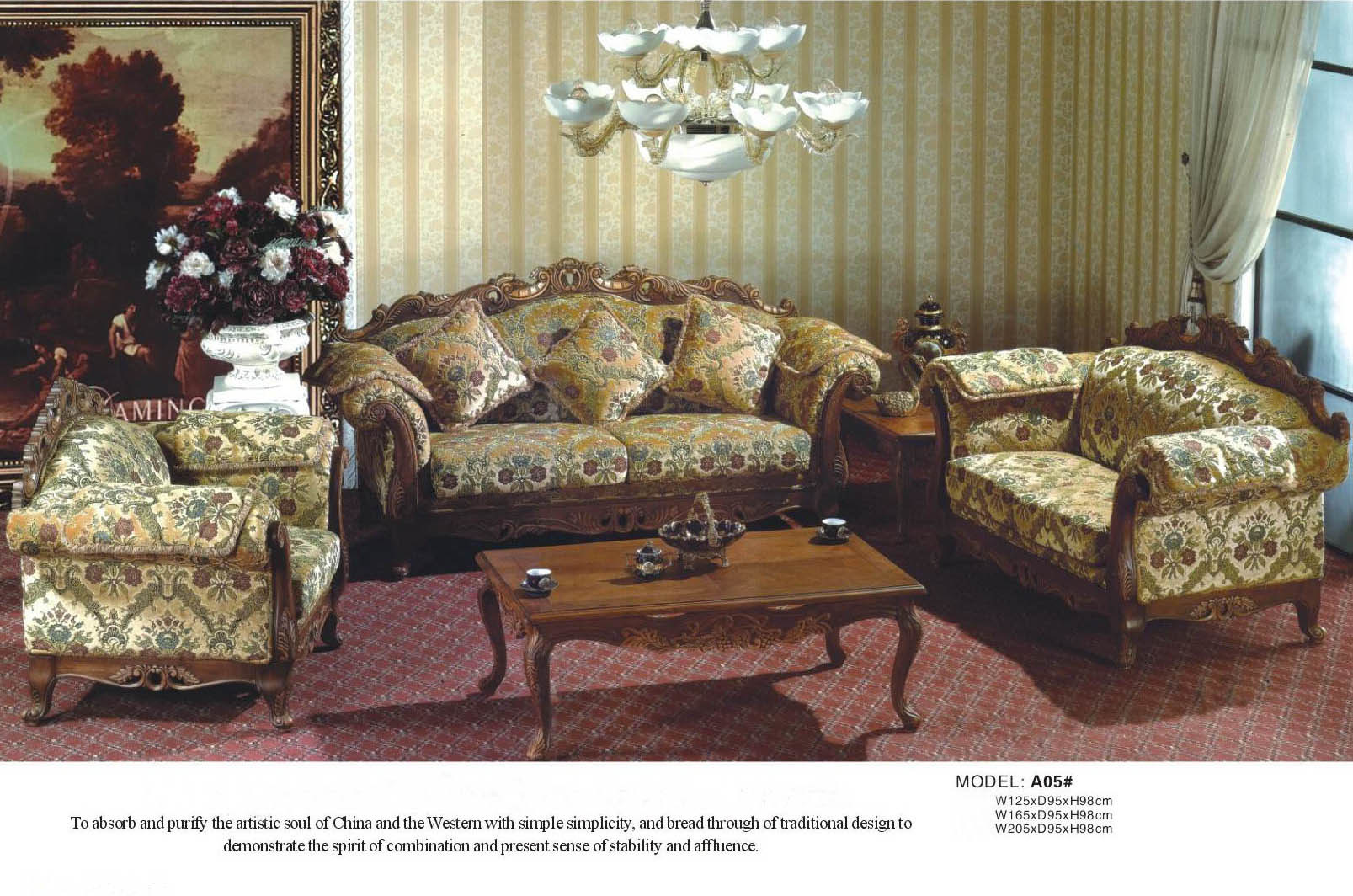 China Living Room Furniture Europe Sofa A05 China