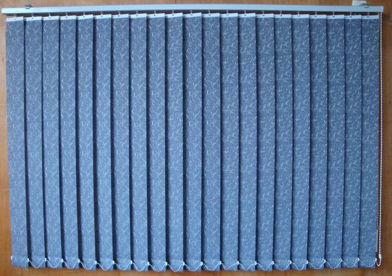 Patterned Vertical Blind For Office Decoration