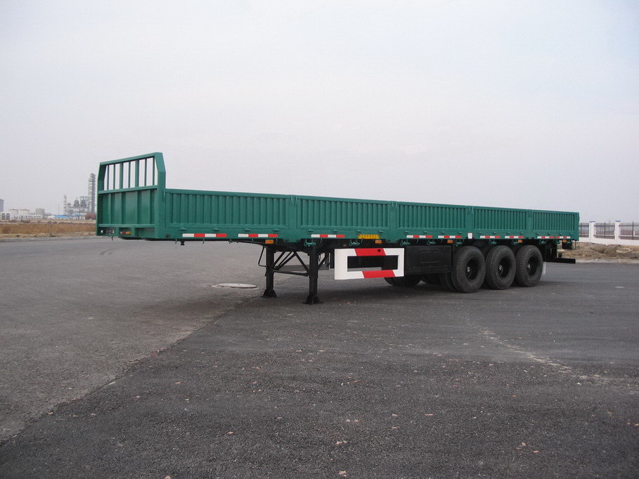 With Drop Axle Semi : China axles drop side semi trailer cargo