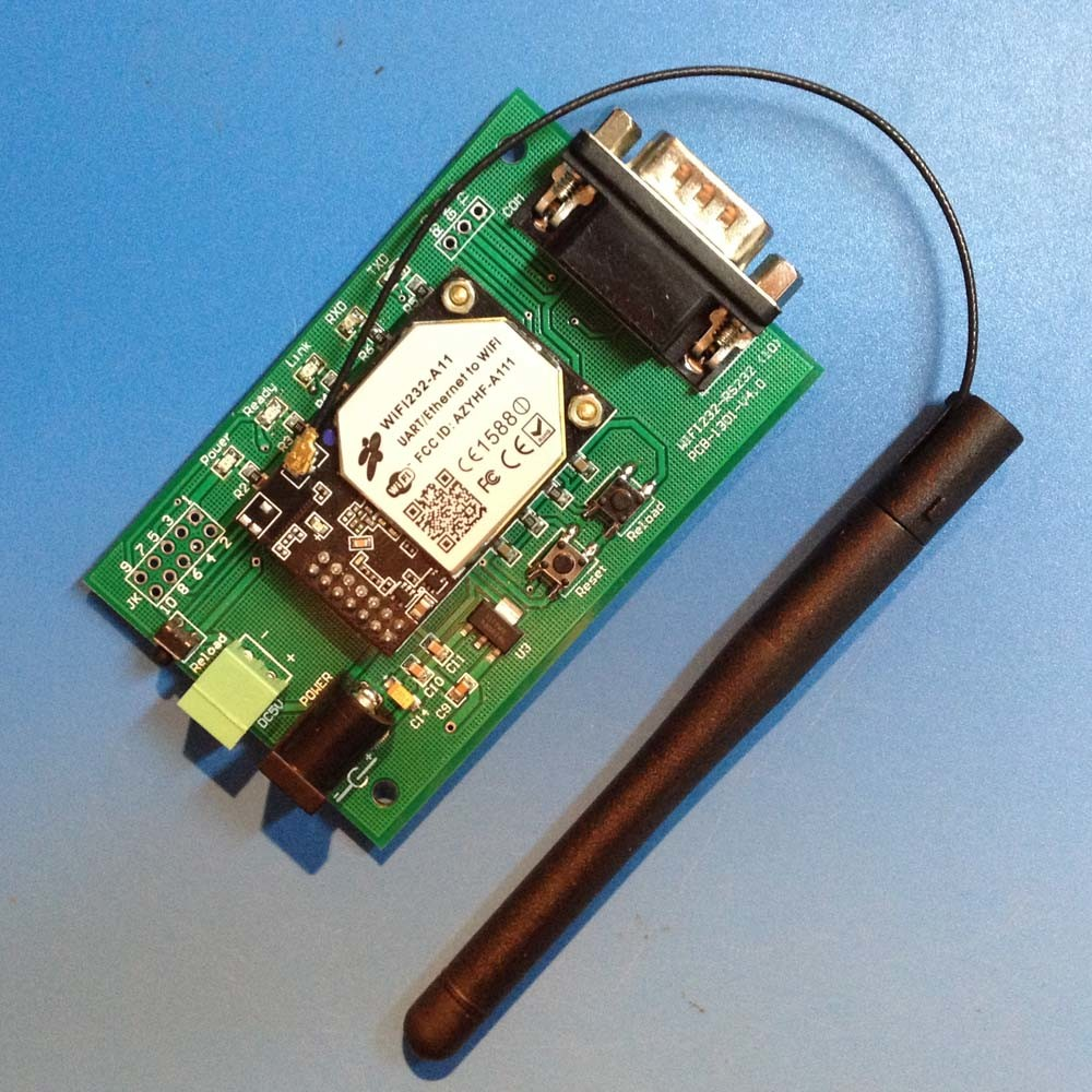 Serial RS232 to WiFi Converter Module and WiFi to RS232 Serial Device Server