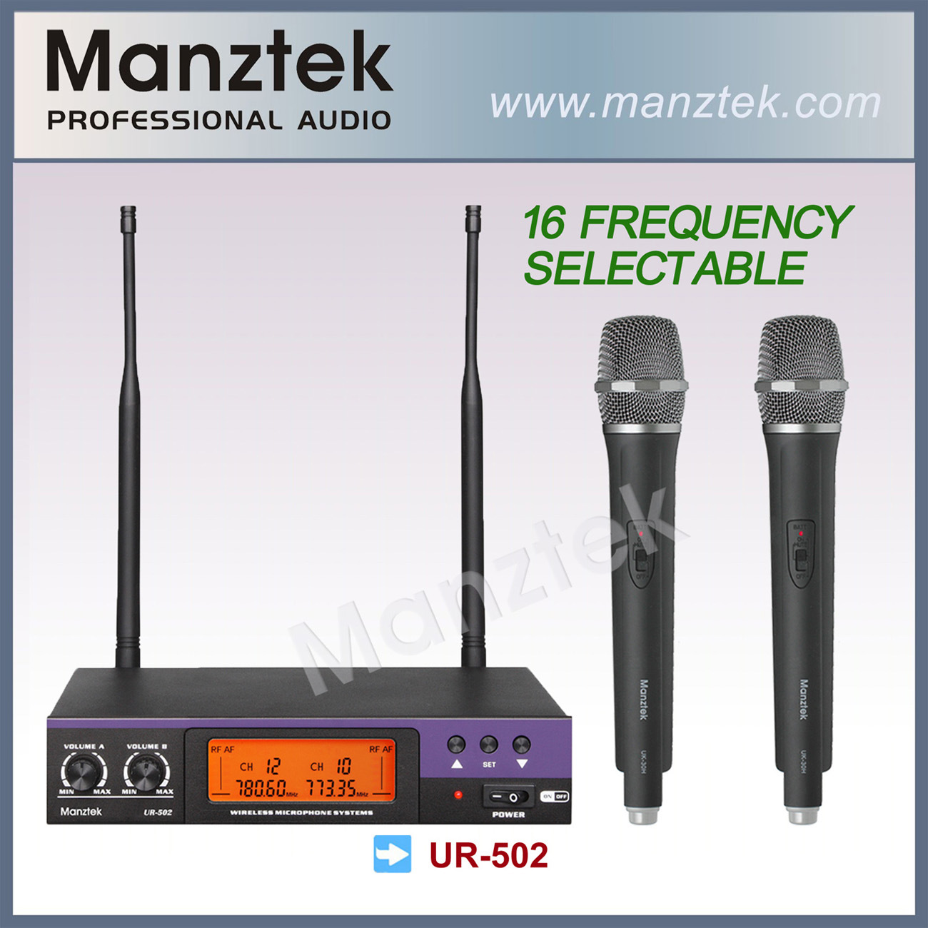 UHF Frequency Selectable Wireless Microphone (UR-502)