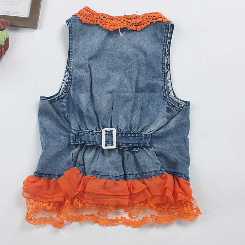 Girl's Fashion Vest with Lacework