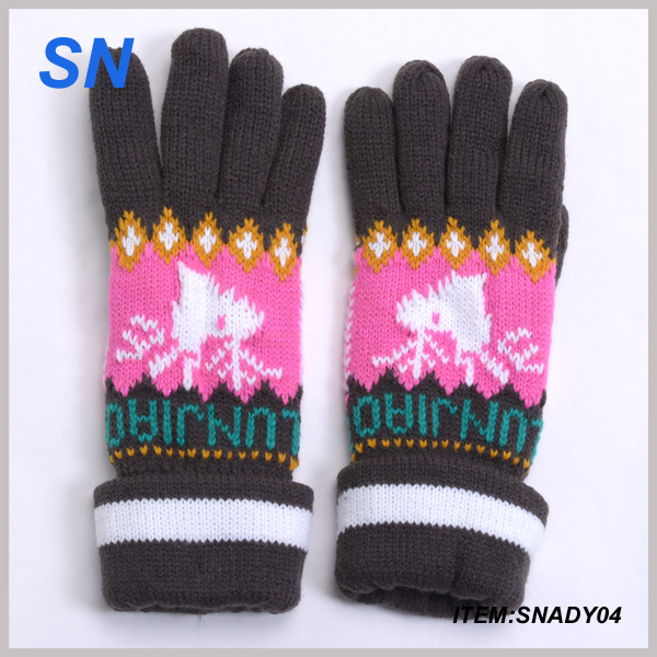 Wholesale Fashion Knit Lady Winter Glove China Supplier