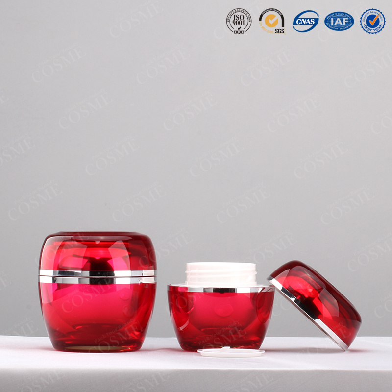 15g 30g 50g Elegent High Quality Round Silver Luxury Plastic Acrylic Jars Cosmetic