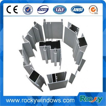 Powder Coating Window and Door Alloy Aluminum Extrusion Profile